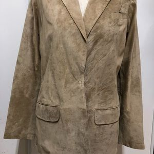 Neiman Marcus Jackets & Coats - Neiman Marcus genuine suede leather blazer szS